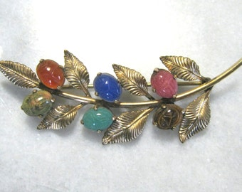 Vintage jewelry Retro 12k gold filled scarab brooch pin scarab jewelry