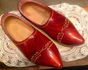 Dutchman Wooden Shoes made in Holland Authentic from the 1920's