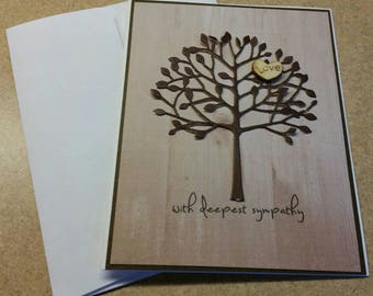 Handmade Sympathy Card. Bereavement. Grief. Loss of a Loved One