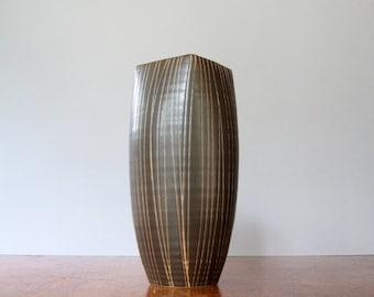 Tall Vintage Japanese Modern Pottery Bud Vase