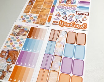 Woodland Animals 4 Piece Mini Planner Sticker Kit sized for the Erin Condren Planner & Many other planners