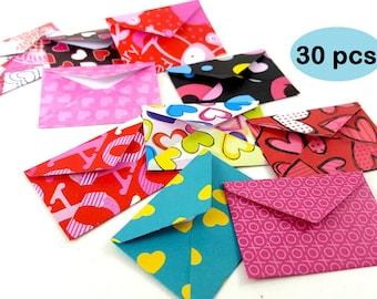 Mini Valentine Envelopes, Tiny Valentine Envelopes, Mini Valentine Notes Envelopes, Doll Envelopes, Romantic Mini Envelopes, Micro Envelopes