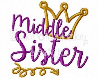 Middle Sister Shirt - Big Sister Gift, Big Sister Dress, Big Sister Announcement, Sibling Outfits, Big Sister Little, Big Sis Shirt, Baby