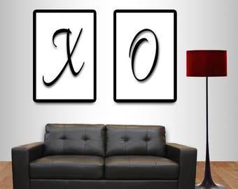 X and O DIY Digital Download Print Bundle Poster