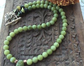 Girls jade necklace, childs jade necklace, girls jade jewelry, jade necklace for little girls, jade necklace for baby, childrens ja