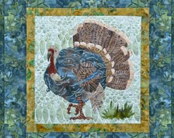 Fall turkey in full color.  McKenna Ryan pattern.