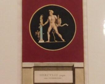 Jacobus Gronovius - Thesaurus Graecarum Antiquitatum - Hand Coloured Engraving - Published Leiden 1697 - HERCVLIS