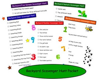 Backyard Scavenger Hunt Printable Packet