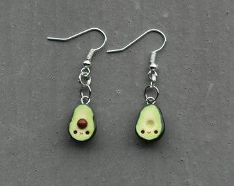 kawaii avocado earrings