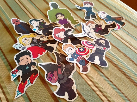 Avengers the winter soldier sticker set bonus stickers included from artisticcole on etsy studio