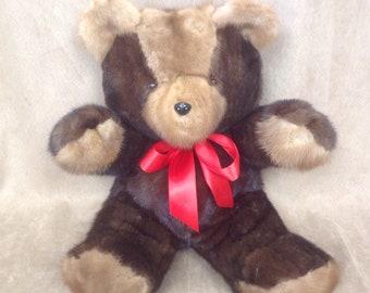 Bear mink Teddy Bears, mink Oso, 15 inches, 38 cm.