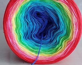 """Color gradient yarn """"Fozia Tukka country"""""""