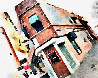 Watercolor Sun Records Art Digital Photo