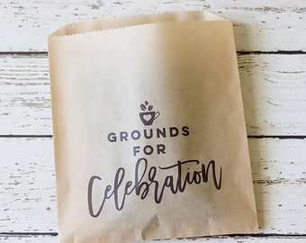 Wedding Coffee Favor Bag Kit - Set of 24 | Wedding Coffee Favors | Grounds For Celebration | Coffee Favor Bag Kit | Coffee Favor Bag