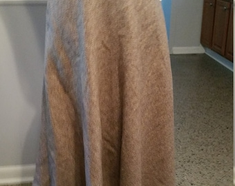 Evan Picone Herringbone Wool Skirt. Made in USA