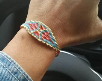 ethnic peyote bracelet