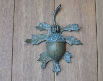 Verdigris Acorn and Oak Leaf Doorknocker