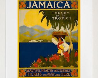 Travel Poster Jamaica Gift Vintage Art Print (TR6)