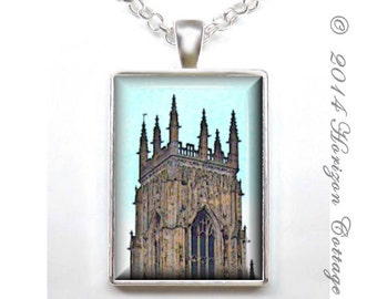 Tower of York Minster Cathedral in York, England  - Art Photo Key Ring or Pendant - Your Choice of Finish