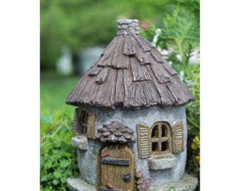 "Nutty Nook 7.25"" Tall House with Hinged Door for the Fairy Garden"