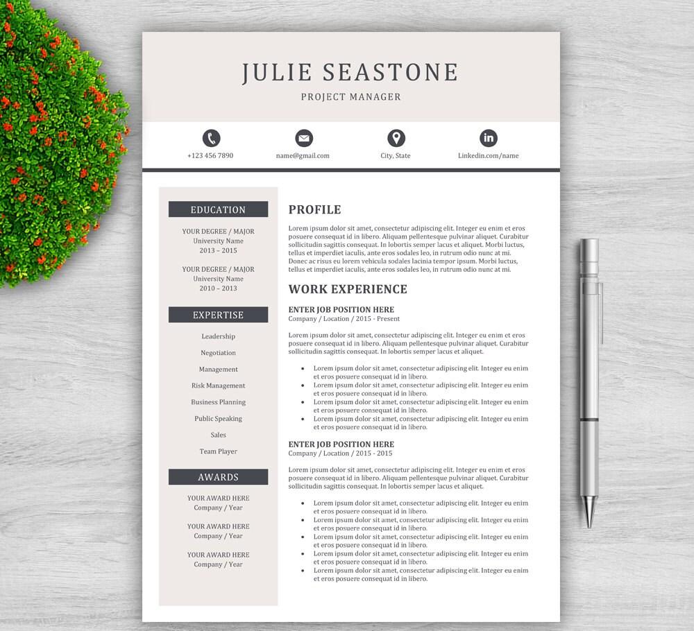 Kreative Lebenslauf Vorlage für Word 1 und 2 Seite