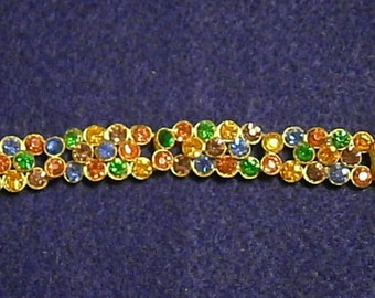 Vintage Czechoslovakia  Rhinestone Bracelet