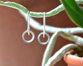 I Am Whole - Argentium Silver Circle Dangle Earrings