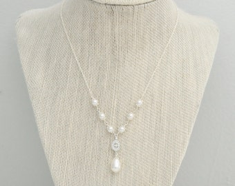 Bridal Necklace Pearl, Wedding Necklace Bridal Jewelry Vintage, Wedding Jewelry, Pearl Necklace Wedding