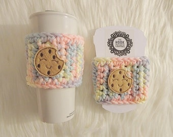 Cookie Cup Cozy - pastel rainbow