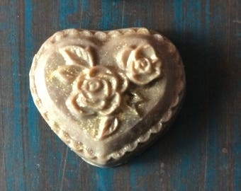 Goat Milk and Oatmeal Victorian Heart Soap
