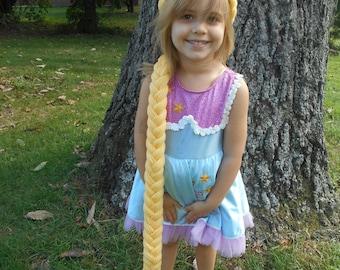 Rapunzel Wig Rapunzel Hair Rapunzel Braid for costumes Yellow yarn Braid Inspired by Princess Rapunzel