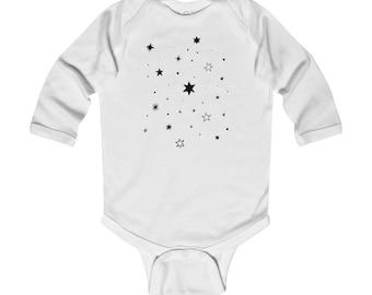Doodle Stars Long Sleeve Bodysuit