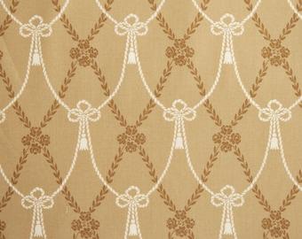 Downton Abbey Home Drapery Ties TAN 8233 BN - Victorian Quilting fabric - Andover Fabrics - 100% Premium Coton