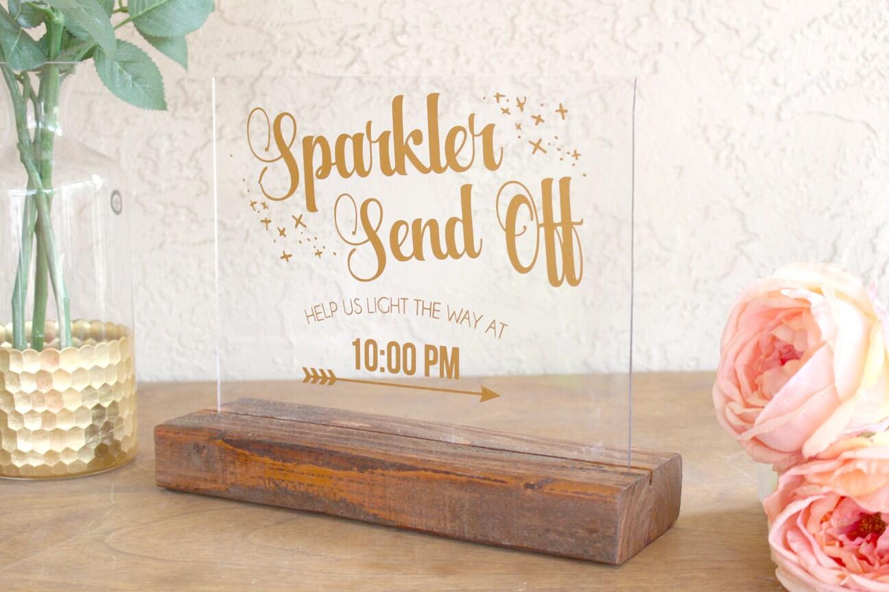 Sparkler Sign for Wedding Sparkler Wedding Sign Sparkler