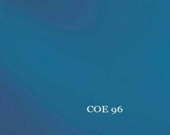 Spectrum COE 96 6x6 Steel Blue Transparent Fusible Glass Sheet 3mm 538.4SF