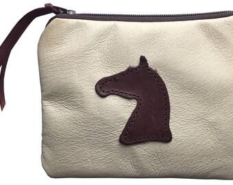 Pigskin Leather Horse Head Purse