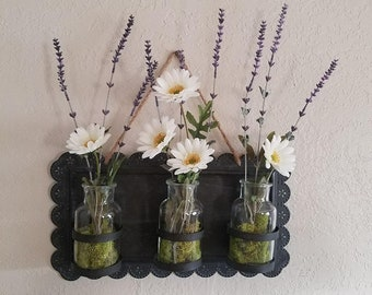 A 3 Vase wall hanging