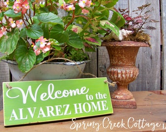 Welcome Signs, Personalized, Porch Decor, Door Decor, Wood Signs, Handpainted, Custom, Modern Rustic, Housewarming Gifts, Wedding Gifts