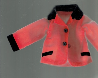 red and black  doll jacket