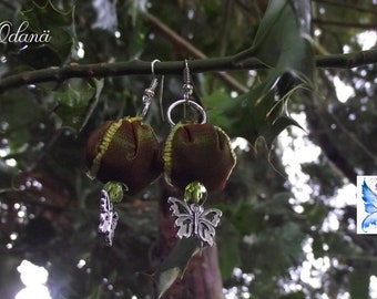 Magical fairy earrings  - Magical powder - Fairy gift - Pagan - Wicca- Witch- Witchcraft- Mother Earth - Nature