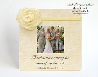 Mother of the Groom Picture Frame Gift to Mom Parents Thank you for raising the man of my dreams Wedding Day Gift Ideas Custom Photo Frames