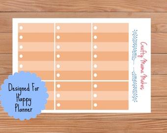 Orange Circle Check List Boxes - Planner Stickers - Sticker - Happy Planner - Erin Condren - Planner