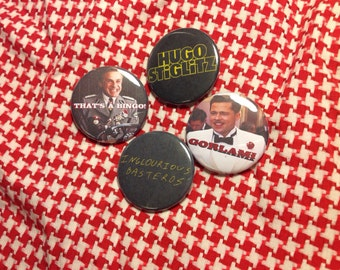 """Inglourious Basterds 4 pack 1.5"""" buttons"""
