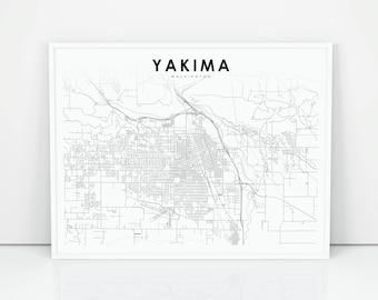 Yakima map Etsy