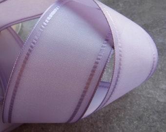 Light Purple Tipped Ribbon 1 Yard