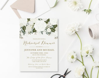 Rehearsal Dinner Invitation Template DIY Rehearsal Invitation Cheap Invitation Floral Invitation INSTANT Download PDF Template #CL112