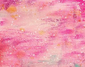 pink galaxy space glass pipe set stash jar herb grinder
