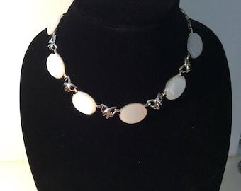 Coro White Necklace
