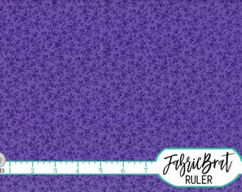 PURPLE TINY FLORAL Fabric by the Yard Fat Quarter Purple Fabric Small Flower Fabric Quilting Fabric Apparel Fabric 100% Cotton Fabric w2-21