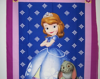 Sofia The First Panel With Cooridnating Fabric